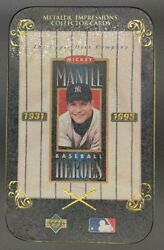 1995 Mickey Mantle Baseball Heroes Metal Collector Cards - Metallic Impressions