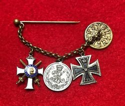 German States - Chain Of Miniatures - Albert Order, Iron Cross, F.a, Medal