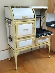 Vintage Glenwood Gas Stove Our Way, Restored And Modernized, Yellow And White