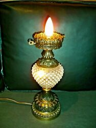 Fenton French Hobnail Opalescent Gwtw Lamp Base, No Shade, Rare1-2