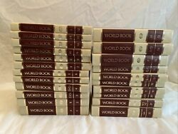 Complete Set Of 1974 World Book Encyclopedia Set Of 22 W Research Guide Index