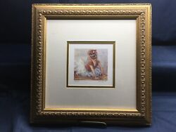 """Lucelle Raad Lithograph Signed And Numbered """"sitting Pretty"""""""