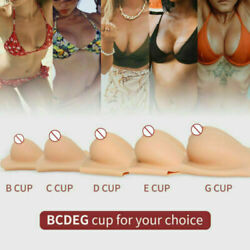B-d Cup Silicone Realistic Boobs Enhancer Crossdresser Breast Form Fake Plate