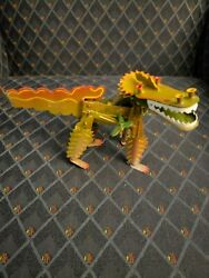 Smiling Dragon Tucher + Walther Germany Wind Up Toy Orange Green Dragon
