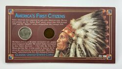 Americas First Citizens 1906 Indian Head Penny 1936 Buffalo Nickel V730