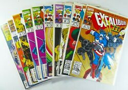 Marvel Excalibur 1992-1993 59 60 63 64 66 67 67 69 +annual 1 2 Vf To Vf/nm
