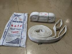 Lifting Sling / Strap Set Of Two For Craine Or Hoist 15 Tons 33,000 Lbs Rated