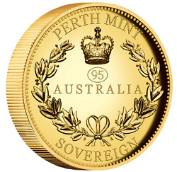 2021 Australia Sovereign Gold High Relief Piedfort With '95' Privy Coin