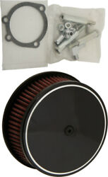 Harddrive Custom Round Air Cleaners 5 7/8 Black Classic Smooth 120302