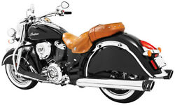 Indian Freedom 4in. Racing Slip-ons Chrome W/black End Caps In00026