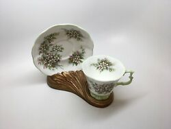 """Royal Albert Bone China Blossom Time Series """"orange Blossom"""" Footed Cup And Saucer"""