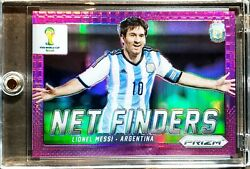 2014 Panini World Cup Lionel Messi Rc Net Finders Purple Prizm Ssp /99 Rare Card
