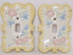 Priority 2 Large Vintage Holland Mold Ceramic Floral Light Switch Plate Covers