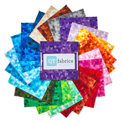 Digital Ombre 5 Inch Squares X 42 Pieces New Cotton Quilt Fabric Charm Pack