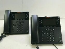 Lot Of 2 Polycom Ring Central Vvx 450 Business Ip Phone