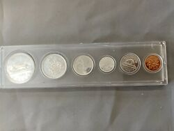 Canada 1966 Royal Canadian Proof Like Mint Set 6 Coin 80 Silver