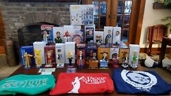Complete Set Of Seinfeld Bobbleheads And 3 T-shirts, 5 Card Set From The Mets Sga