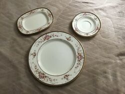 Noritake China Brently - 3 Pcs. - Plate, Saucer, Butter/pickle Dish - Excellent
