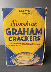 Rare Vintage Sunshine Graham Crackers Box Loose-wiles Biscuit Co