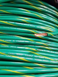 Mtw Machine Tool Primary 10 Gauge Green/yellow Copper Stranded Ground Wire 2500and039