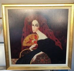 Sergey Smirnov Art Anastasia Framed Print On Canvas Signed 3andrsquow By 4andrsquoh