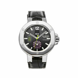 Clerc Icon 8 Dual Time Steel Auto 44mm Mens Watch Strap I8dta11black20and039s