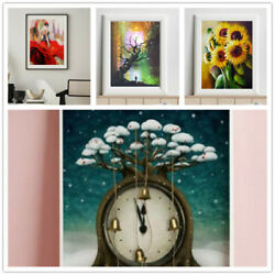 Absurd Art Decor Mural Abstract Wall Paintings Tree Clock Flower Print Pictures