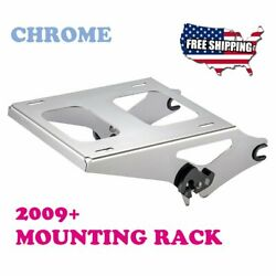 Us Stock Chrome Detachable Two Up Tour Pak Mounting Rack Fit Harley Touring 09+