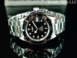 Menand039s 40mm Pro Diver Submariner Automatic Black Dial Silver Tone Watch