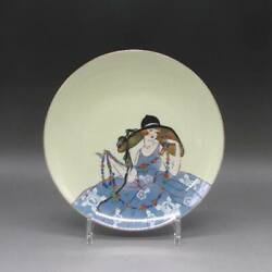 Deco Lady Plate Old Noritake Antique Secondhand