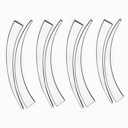 8pcs White Blade Style Car Tires Decals Decoration Stickers Kit Rubber Universal