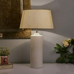 Ceramic Base Table Lamps For Bedroom With Shade Vintage Night Lamp Shade Side