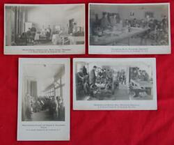 4 Rppc Wwi Soldiers Hospital 30 Plattsburgh Ny Electro Therapy - Band - Auto
