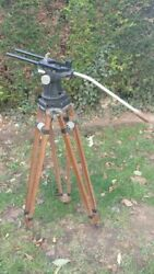 Tripod For Camera Antique Heavy Wooden 50s 50and039s For Arriflex 1 Or 2
