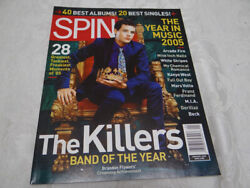 Spin Magazine January 2006 The Killers Cover Arcade Fire Nine Inch Nails