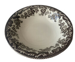 Spode Delamere Brown Transferware China Cereal Bowl 8 1/8 Made In England