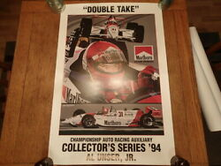 Al Unser Jr. Signed-limited Edition Print Double Take-1994-by Anne Payton-cart