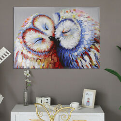 Canvas Prints Wall Art Painting Pictures Home Office Decor Owl Couple Colorful