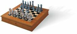 Lladro Medieval Chess Set Board Box Included 01006333 Made In Spain