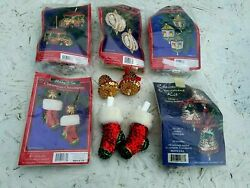 Holiday Time Vintage Style Beaded Christmas Ornament Kit Bell Stocking Taxi Lot