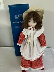 Vintage Schmid Musical Collectible 560021 Oklahoma Porcelain Doll 17 In Box