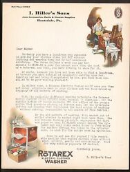Houtzdale Pa C1930 - I Hillers Sons - Auto Radio Electric Vintage Letterhead