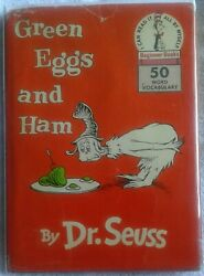 Rare Green Eggs And Ham- 1960 1st/1st W/ Sticker W Autograph Mounted