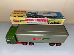 Consolidated Freightways 'friction Tractor And Trailer Antique Excellent With Box