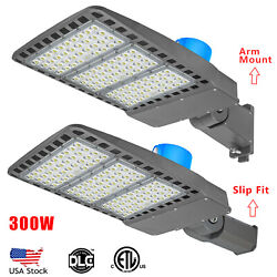300w Led Shoebox Street Pole Commercial Area Lights With Dusk To Dawn Photocell
