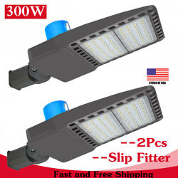 300watts Outdoor Area Led Shoebox Light With Photocell Dusk To Dawn Super Bright