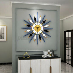 3D Sunburst Large Wall Clock Modern 25quot; Oversized Colorful Wall Watch Home Decor