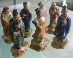 Figures Porcelain/biscuit Characters Asian China/japan Miniature 2 3/8in