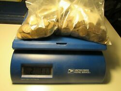 2-lb 11-oz 1940and039s-1958 Wheat Cent Collection Lotand039s Of High Grade Coins
