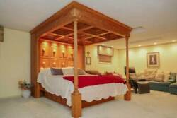 Custom-made Solid Oak Four Poster Canopy Double-size Bed - 2,950 Darien Illino